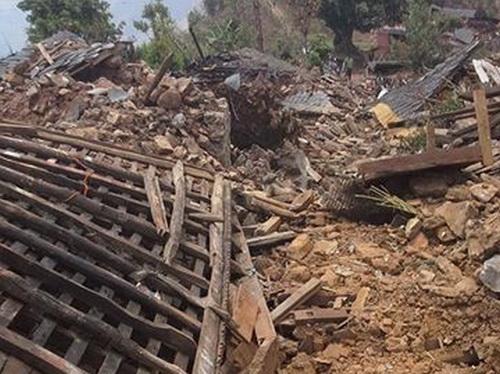 Destroyed village house Nepal