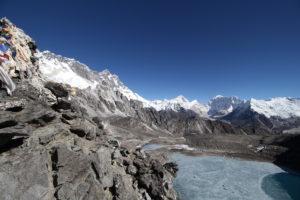 Lakes near Everest on the Three Passes Trek